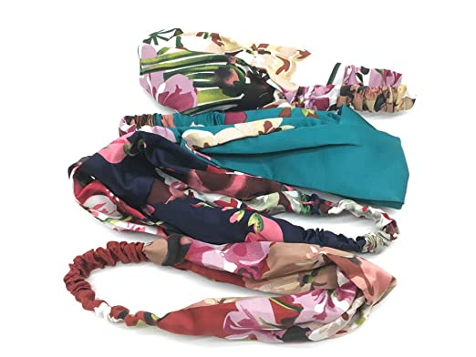 Yofa 4 Stück Damen Elastische Blume Gedruckt Stirnbänder, Kopfwickel ...