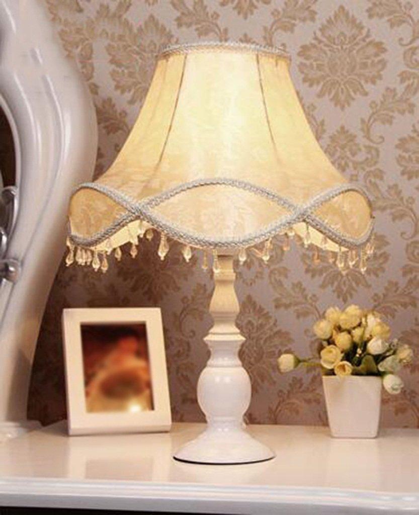 JAZS® European Style Tischlampe Schlafzimmer Einfache Wärme Nachttisch Lampe Wohnzimmer Hochzeit Hochzeit Moderne Pastoral Tischlampe Augen lang anhaltend schützen (Größe    1)