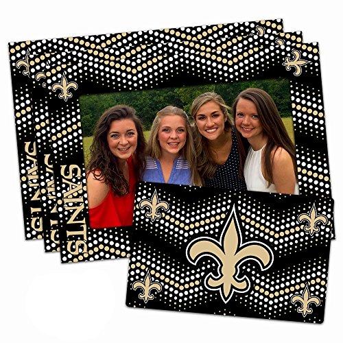 Worthy Promo NFL New Orleans Saints Magnetic Frame & Bonus Magnet, 3 Pack, Blue, 4