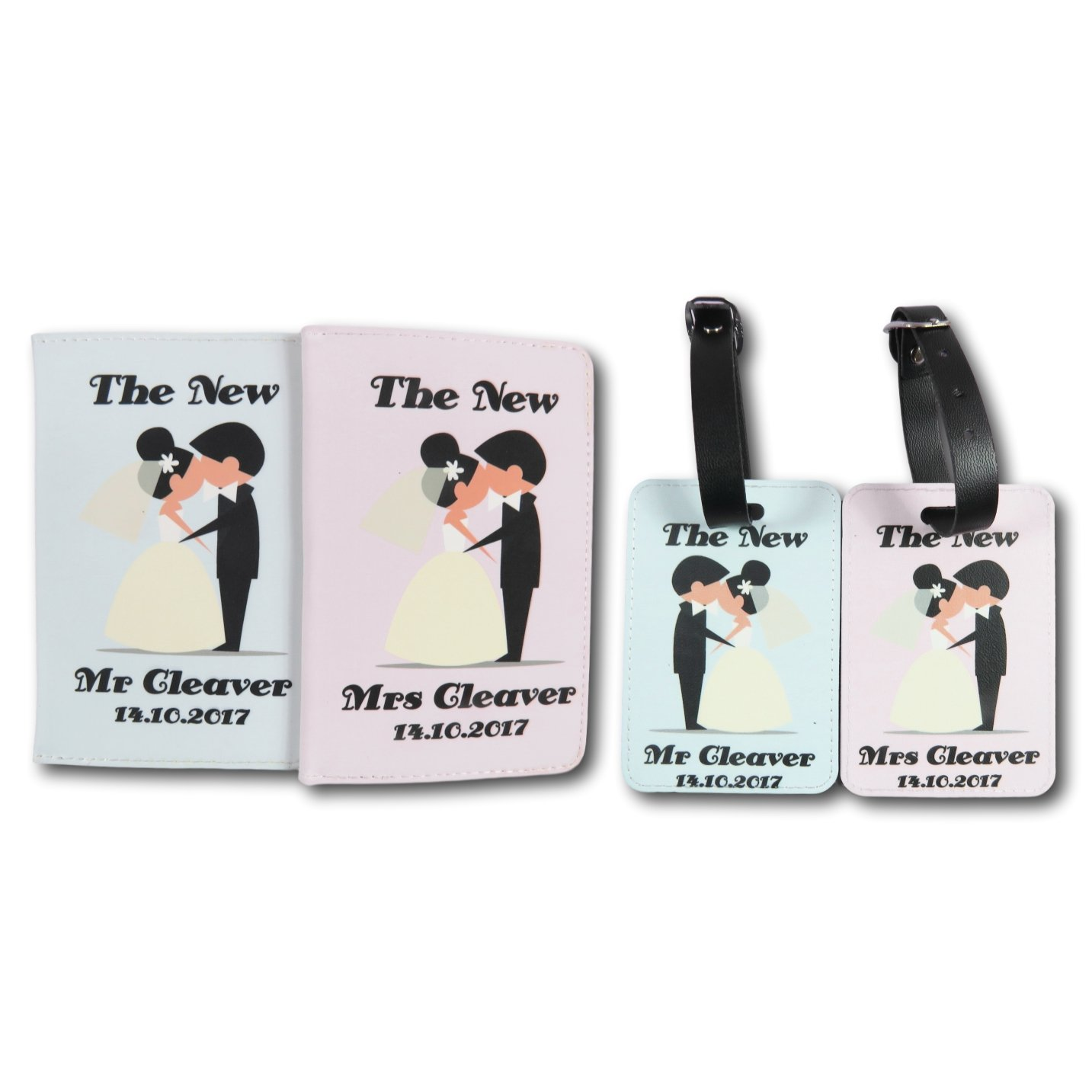 Wedding Mr & Mrs Personalised Passport Covers and luggage tag set Travel Gift Travel Gift Idea Custom passport holder World Travel Accessory Gift for traveller Wedding Gift Just Married Honeymoon