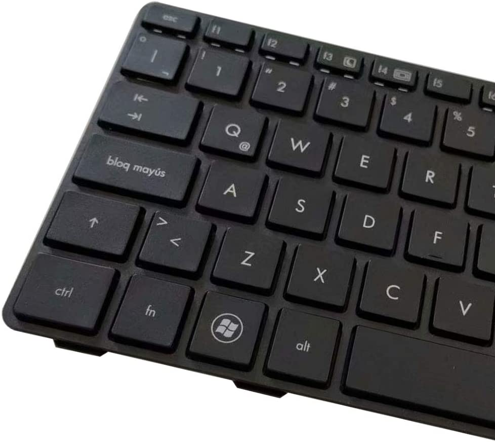 New Laptop Replacement Keyboard Fit HP ProBook 6460B 6465B 6470B 6475B EiteBook 8470B 8460P 8460W 8470W 9Z.N6RUV.01E 635768-161 Latin Layout with Frame