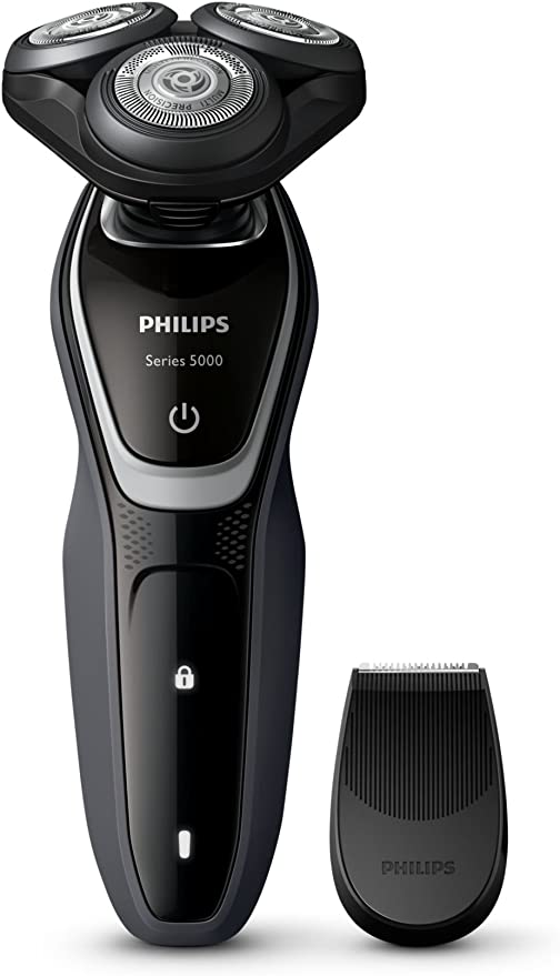 Philips S5110 - Afeitadora (Rotación, Black, Plata, Carga, Batería ...