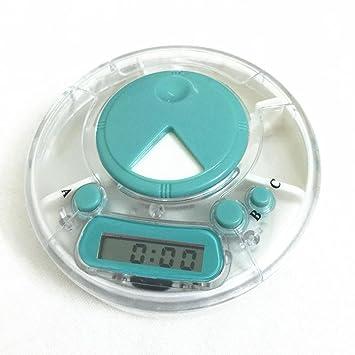 Hunpta Mini - Kit de medicina diaria portátil con reloj despertador digital blanco: Amazon.es: Hogar