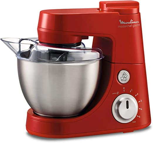 Moulinex qa408gb1 - Robot de cocina (4 L, 900 W, incluye batidora de 1,5 L), color rojo: Amazon.es: Hogar