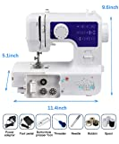 Luby Portable sewing machine, 12 Built-in Stitches, Blue