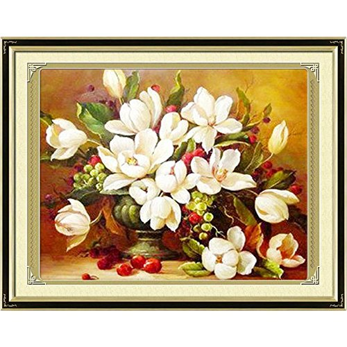 Cross stitch, gardenia, flowers, P0010 YanFa Cross stitch