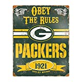 Party Animal NFL Embossed Metal Vintage Green Bay Packers Sign
