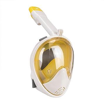 Máscara de cara completa para snorkel, respiración fácil ...