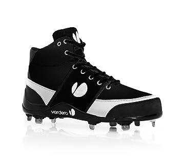 Legend Hi-Top Metal Baseball Shoe Black/White 14