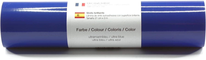 Selbstklebende Plotterfolie Vinylfolie 21 cm x 3 m gl/änzend 39 Farben zur Auswahl Farbe:Wei/ß