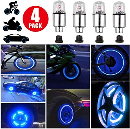 LED Wheel Tyre Tire Valve Dust Cap Light For Car//Auto//Motorcycle//Bike//Bicycle UK