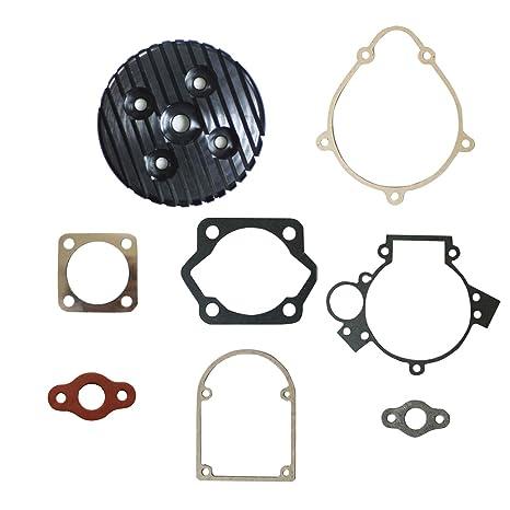 JRL Sliver CNC Cylinder Head/&Gasket Set Fit 80cc Motorized Bicycle Bike Motor Engine