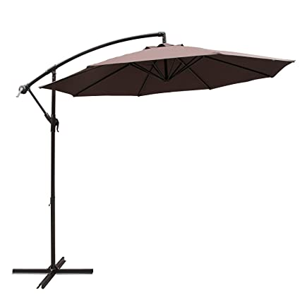 Amazon Com Cobana 10 Cantilever Freestanding Patio Umbrella