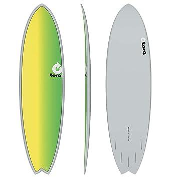 TORQ Tabla de Surf epoxy Tet 6,10 Fish Full Fade: Amazon.es ...