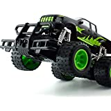 Intelligent Off Road High Speed Rechargeable Remote Control Monster Jeep With Smart Watch Black/Green