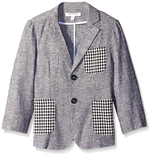 Isaac Mizrahi Little Boys' Linen Blazer, Gray, 4