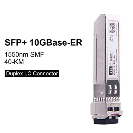 SFP+ 10GBase-ER Transceiver Module Compatible for Cisco SFP-10G-ER 1550nm,  40km Over SMF