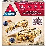 Atkins Protein-Rich Meal Bar, Blueberry Greek Yogurt, 5 Count