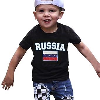HEHEM - Ropa para bebé, verano, bebé, niños, camiseta de fútbol para