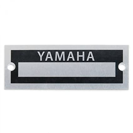 Amazon com: Vintage parts USA VPAVIN104 Blank Data Vin Plate