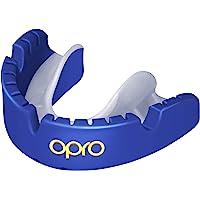 OPRO Protector bucal Gold (para aparatos ortopédicos) para Rugby, Hockey, MMA, Boxeo, Baloncesto y Otros Deportes de…