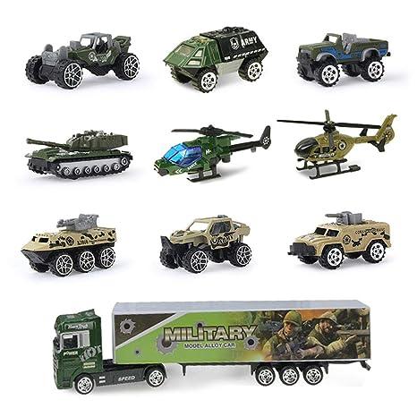 knowledgi Mini juguetes para vehículos militares, aleación ...