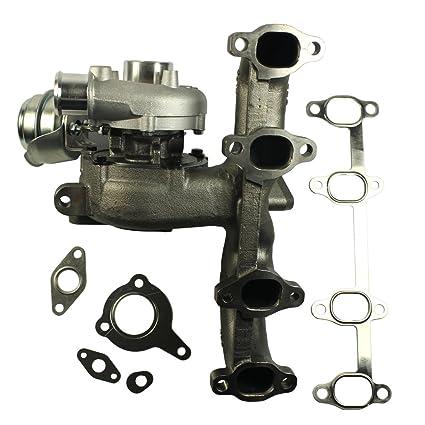 jdmspeed nuevo para VW/Audi 1.9t TDI K04 GT1749 V Turbo cargador + hierro fundido colector + wastegate: Amazon.es: Coche y moto