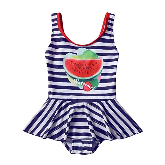 Collager Toddler Girls Tankini Bikini One Pieces Swimwear Watermelon Swimming Bathing Swimsuit