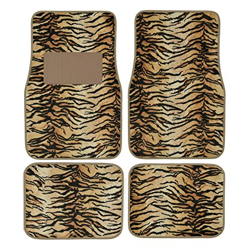 (Tan zebra floor mats. Universal floor)