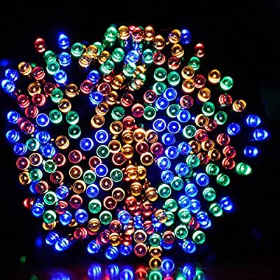 Dephen Solar Powered String Lights 39ft 100 LED Fairy Starry Christmas Waterproof String lights for Outdoor Garden, Lawn, Patio, Wedding,Party, Christmas Tree,Home Decoration