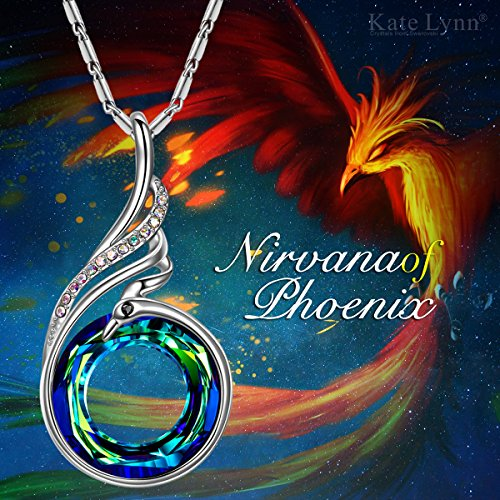 Kate-Lynn-Women-Jewelry-Nirvana-of-Phoenix-Pendant-Necklace-for-Made-with-Swarovski-Crystals-Other-Chain-177-2-Extender-with-Gift-Box