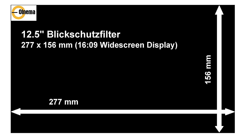 Olnema Laptop /& Notebook Blickschutz Folie I Sichtschutz Folie I Privacy Filter I Blickschutzfilter I Anti-Spy Folie 13.3 Zoll 16:9 Bildschirm