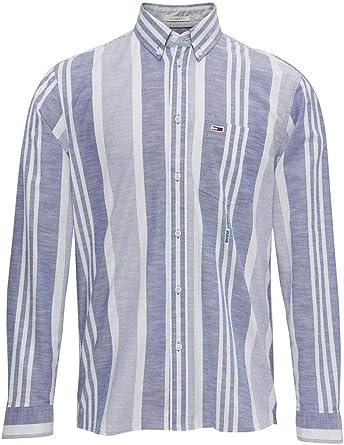 TOMMY HILFIGER HOME - Camisa de Manga Larga Hombre Color: Blau Talla: M: Amazon.es: Ropa y accesorios
