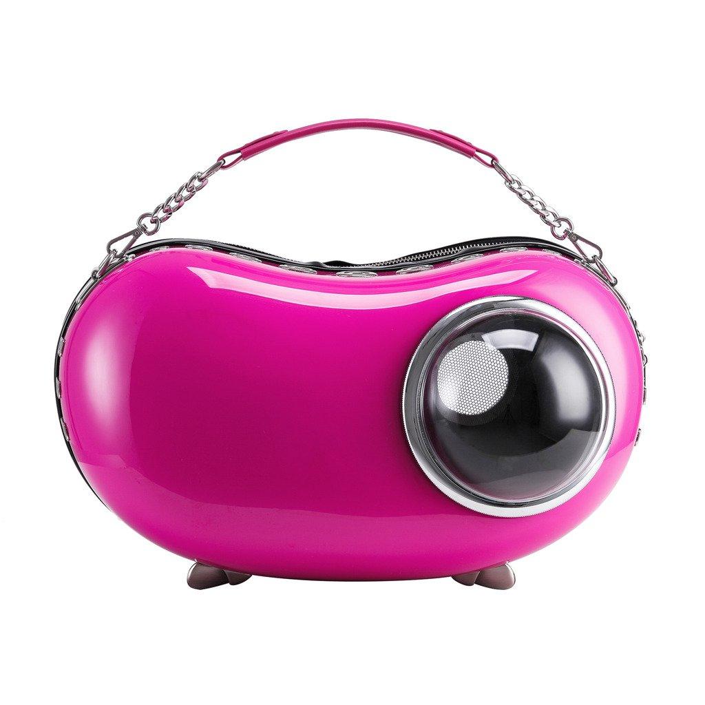 Upet Peapod Design Bubble Cat Dog Puppy Pet Travel Carrier,Rose