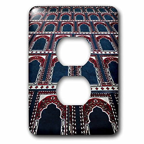 (3dRose lsp_74155_6 Pattern of prayer rugs, Islamic mosque, Cairo, Egypt Plug Outlet Cover)
