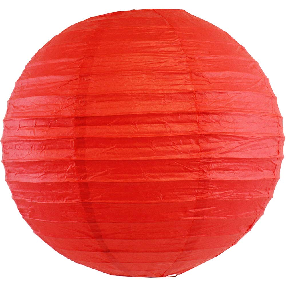 Just Artifacts 16'' Red Chinese/Japanese Paper Lantern/Lamp 16'' Diameter - Just Artifacts Brand