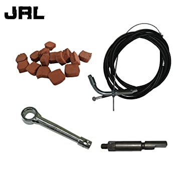 jrl Cable del acelerador Cable de embrague & 15 x cuadrado almohadillas de embrague para 66
