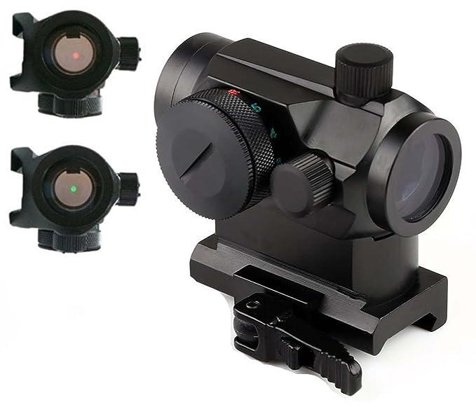 MAYMOC Vistas de la pistola /óptica hologr/áfica Mini Micro Reflex Verde Rojo Punto de vista Scope con QD Quick Riser Mount