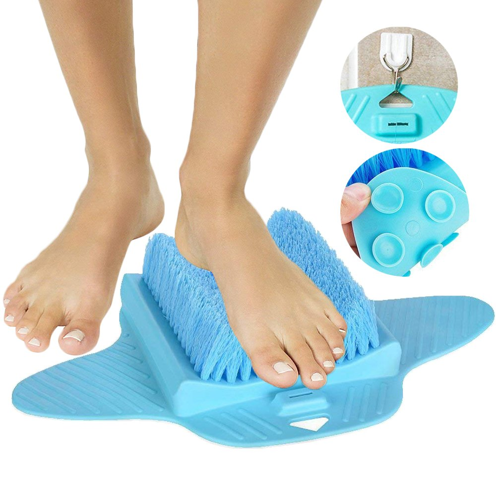 Foot Scrubber, Foot Brush Bristles Deep Clean, Hard Dead Rough Dry Skin Callus Exfoliate Stimulate Feet Cleaner Scrub Massager Spa for Shower Floor (Blue) ENINE