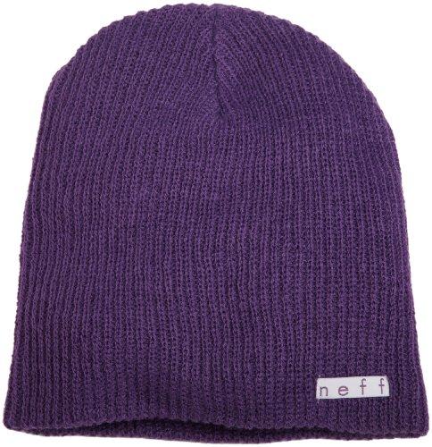 Neff Unisex Daily Beanie, Warm, Slouchy, Soft Headwear, Purple, One Size - Long Beanie Purple