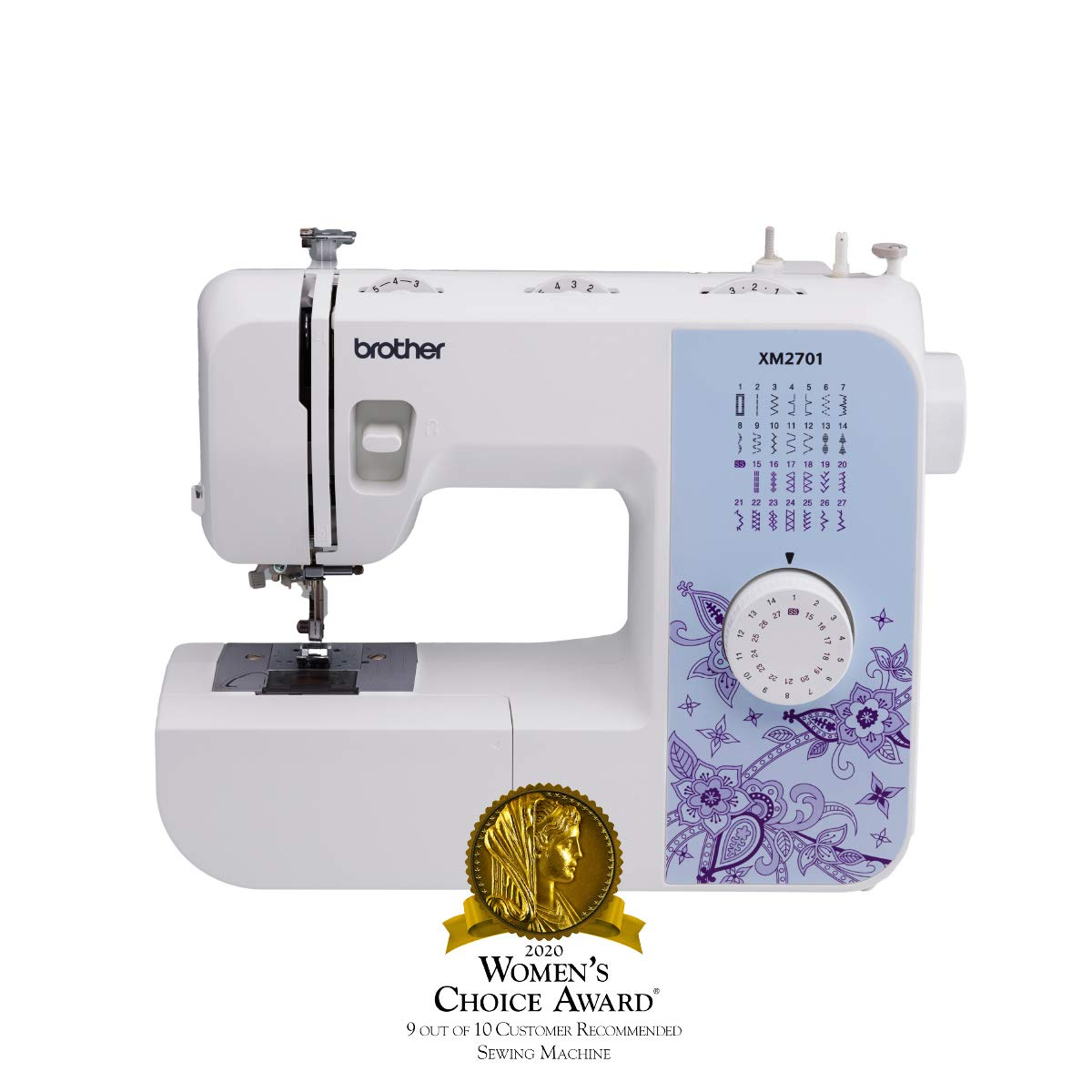 Brother Sewing Machine, XM2701, Sewing Machine with 27 Stitches