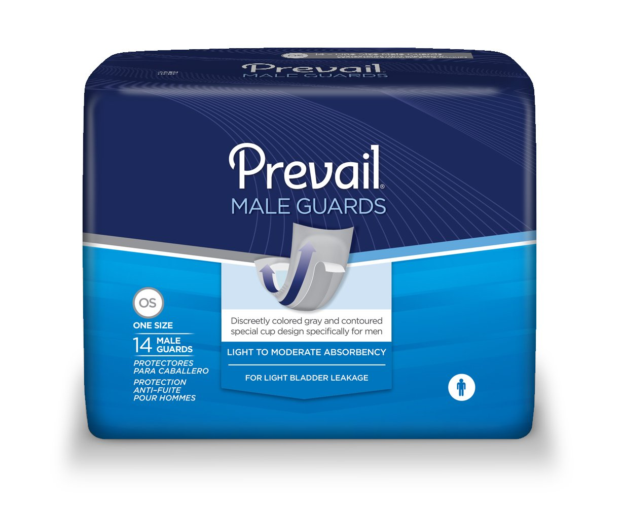 Prevail Male Guards, Prevail Guards M, (1 PACK, 14 EACH)