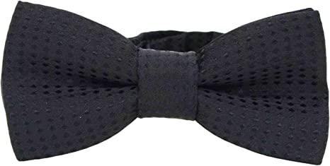 Grey Polka Dog Bow Tie