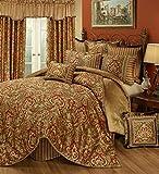 Austin Horn Classics Botticelli Colección de ropa de cama de 4 piezas, California King, Rust
