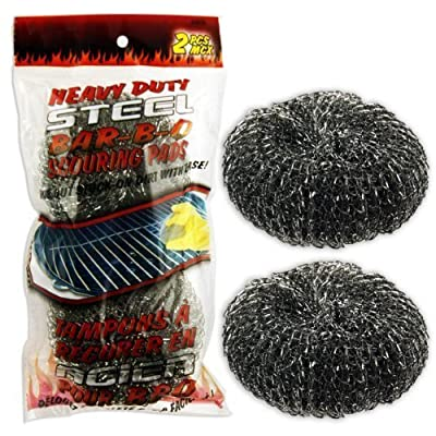 Heavy-Duty Steel Wool Barbecue Grill Cleaner Pads