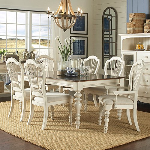 Dining Table with Six Wheat Back Chairs