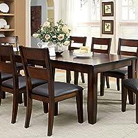 247SHOPATHOME Idf-3187T-9PC Dining-Room, 9-Piece Set, 9-Piece Set/No Bench