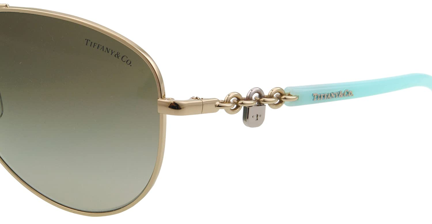 6608fea31aa6 Amazon.com  Tiffany TF3034 60213M Pale Gold TF3034 Pilot Sunglasses Lens  Category 2 Size 60  Tiffany  Shoes