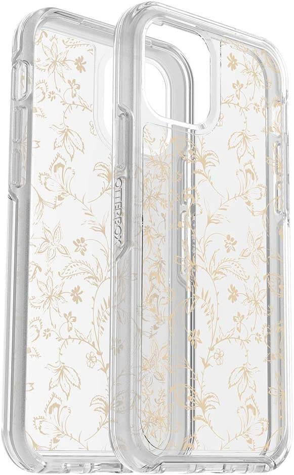 OtterBox Symmetry Clear Series Case for iPhone 12 & iPhone 12 Pro - WallFlower (Clear/Clear WallFlower Graphic)