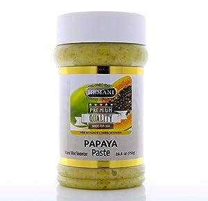 HEMANI | Fresh Raw Green Papaya Paste 26.5 OZ (750g) - Natural Meat Tenderizer for Cooking & Marinade | PREMIUM QUALITY